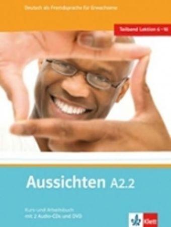 Hosni a kolektiv L. Ros-El: Aussichten A2.2 Kurs-und Arbeitsbuch + CD + DVD