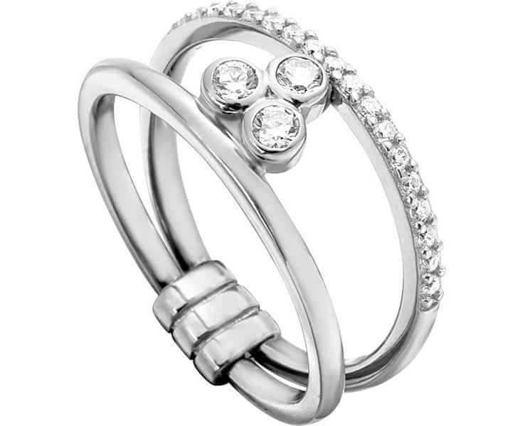Esprit Stříbrný prsten se zirkony Play ESRG001911 57 mm