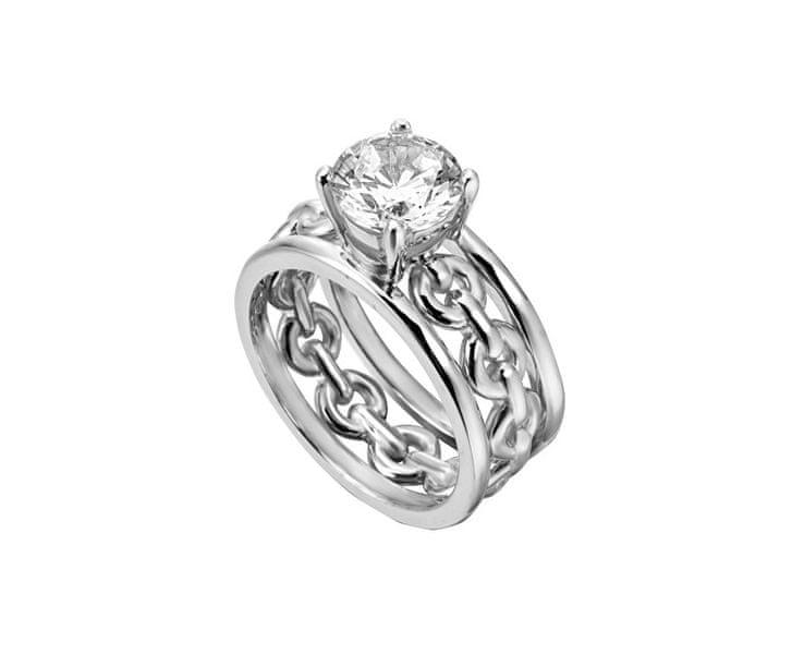 Esprit Stříbrný prsten s krystalem Ann ESRG002611 57 mm
