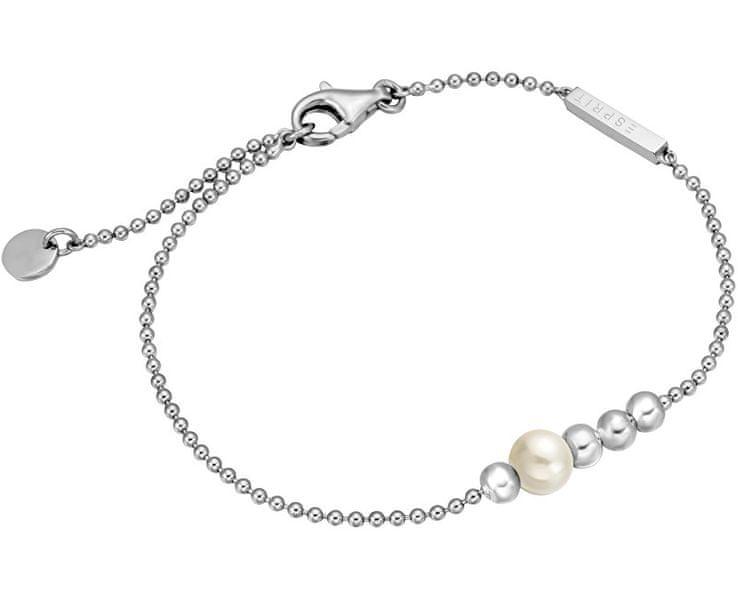 Esprit Stříbrný náramek se syntetickou perlou Powder ESBR00201118 stříbro 925/1000