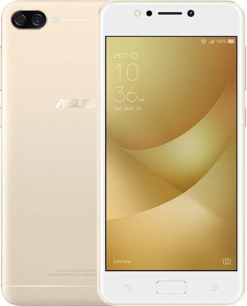 Asus ZenFone 4 Max, (ZC520KL), 2GB/16GB, zlatý