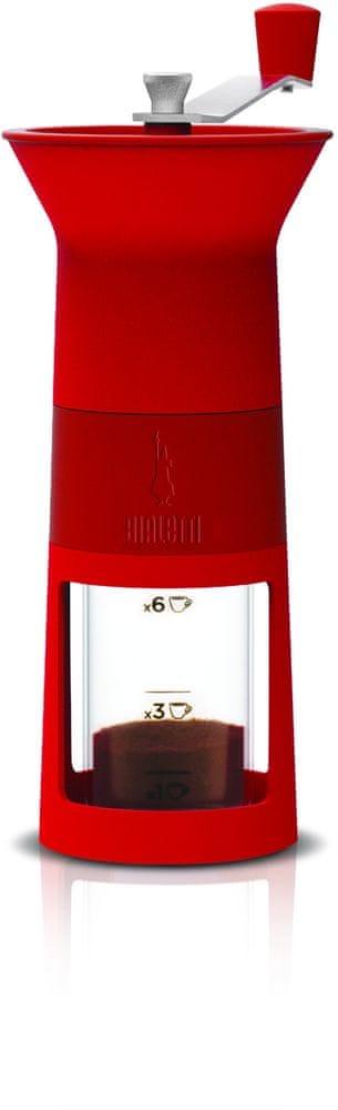 Bialetti Ruční mlýnek na kávu červený