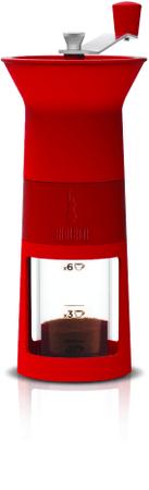 Bialetti Mlýnek na kávu, Maccinacaffe červená