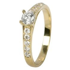 Brilio Dámský prsten s krystaly 229 001 00668 - 1,85 g zlato žluté 585/1000