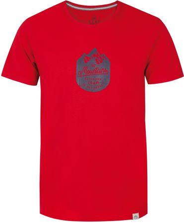 Loap moška majica s kratkimi rokavi Bessip, rdeča, XL