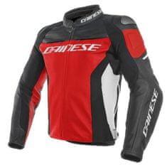 Dainese pánska kožená bunda na motorku RACING 3 červená/čierna/biela