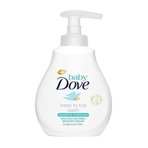 Dove Mycí gel pro děti na tělo i vlásky baby (Head To Toe Wash Sensitive Moisture) (Objem 200 ml)