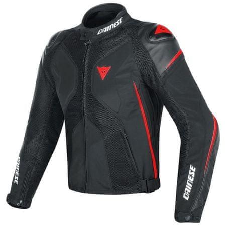 Dainese pánska šport moto bunda  SUPER RIDER D-DRY veľ.48 čierna/fluo-červená