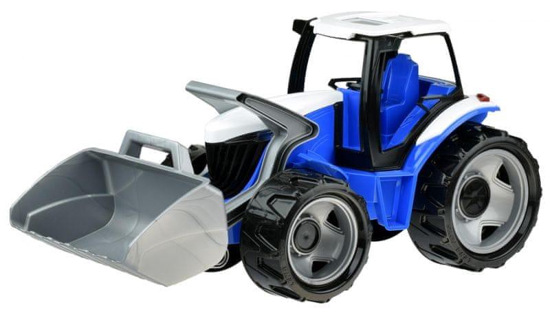 LENA Traktor se lžící modro šedý