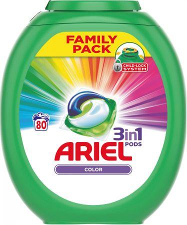 Ariel Color 3 az 1-ben gél mosókapszula 80 darab
