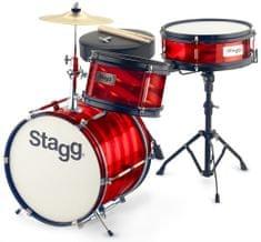 Stagg Junior 3/12B Red Dětská bicí souprava