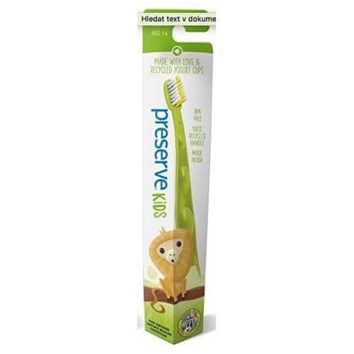 Preserve Dětský zubní kartáček soft - zelený