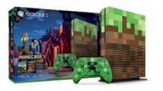 Microsoft igralna konzola Xbox One S, 1TB + Minecraft LE