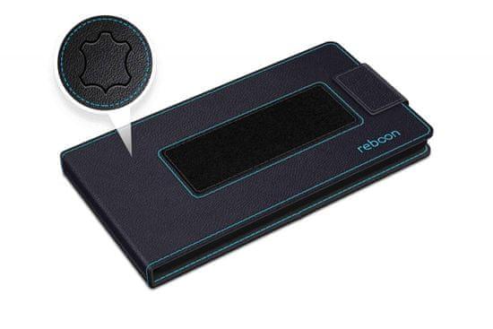 Reboon univerzalna torbica Boonflip XS4, usnjena, črna