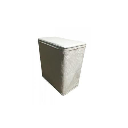 Kôš na bielizeň, biela-krémová ekokoža, DORAN TYP 2