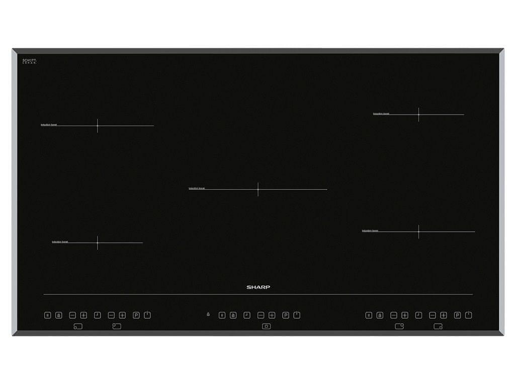 indukční varná deska Sharp KH-9I26CT00 5 zon schott ceran glass