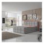 2 -  Komfortná posteľ, sivá látka, 180x200, RAVENA KOMFORT