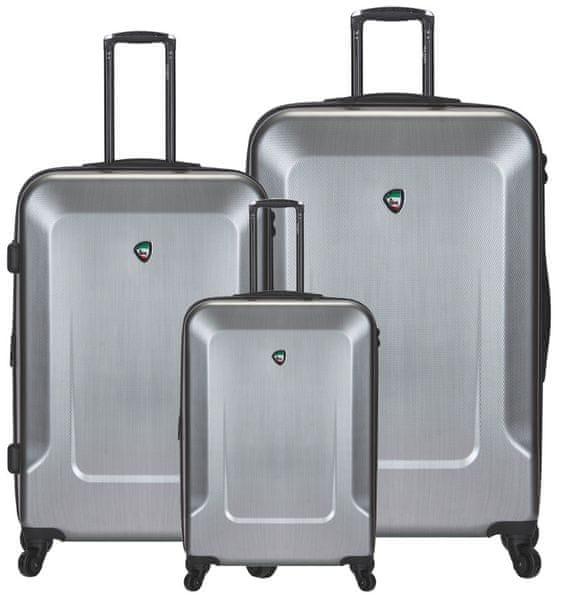 Mia Toro Sada cestovních kufrů M1535/3 stříbrná