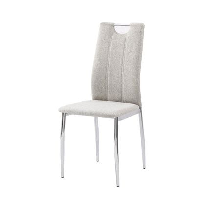 Jedálenská stolička, béžový melír/chróm, OLIVA NEW