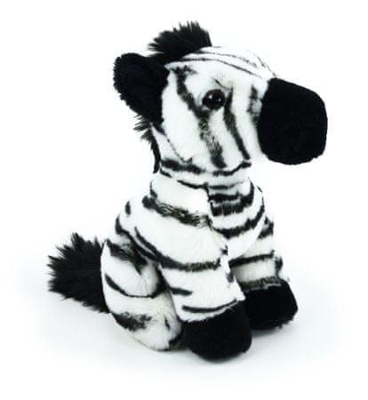 Rappa Plyšová zebra sedící, 18 cm