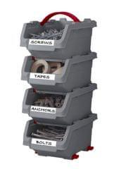 KETER zestaw 4 średnich pojemników Click