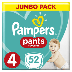 Pampers Plenkové kalhotky ActivePants 4 Maxi Jumbo Pack 8 - 14 kg, 52 ks