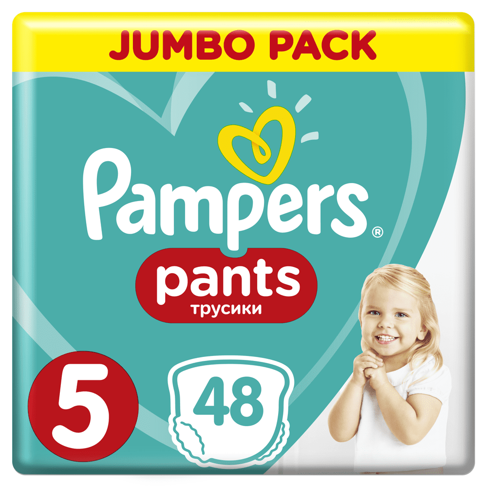 Pampers Pants 5 Junior (12-17 kg) Jumbo Pack - Plenkové kalhotky 48 ks