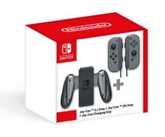 Nintendo Switch Joy-Con (para) szare + Charging Grip