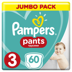 Pampers Plenkové kalhotky ActivePants 3 Midi Jumbo Pack 60 ks