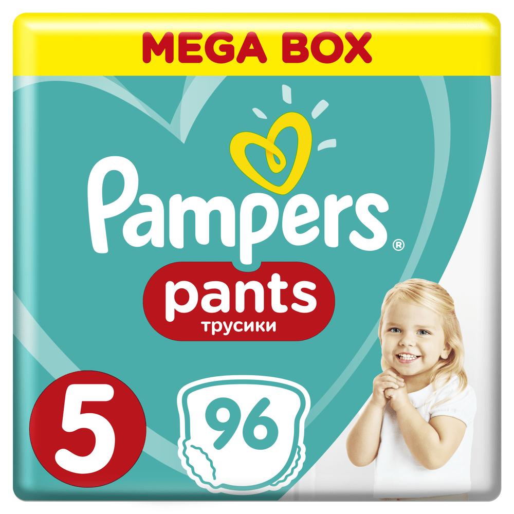 Pampers Plenkové kalhotky Pants 5 Junior Mega Box (12-17 kg) 96 ks
