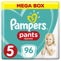 Pampers Plenkové kalhotky ActivePants 5 Junior Mega Box 11-18 kg,96 ks