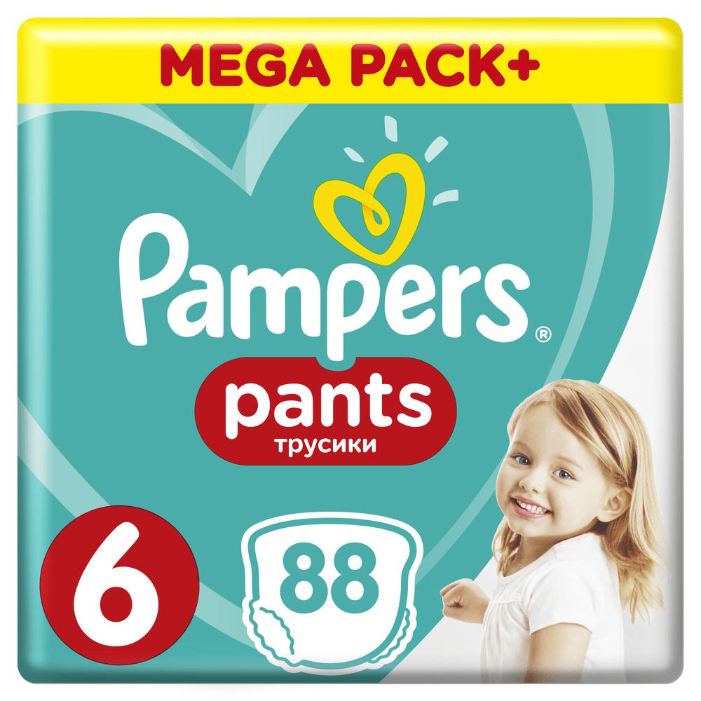 Pampers Plenkové kalhotky Pants 6 (15+ kg) Extra Large - Mega Box 88 ks