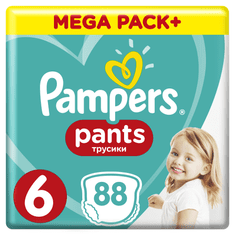 Pampers Plenkové kalhotky ActivePants 6 Extra Large Mega Box 15+ kg,88 ks