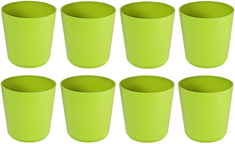 Previosa cvetlični lonec Geometric, zelen, 8 kos