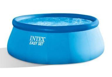 Intex bazen Easy Set, 457 x 107 cm, s filter črpalko, lestev, podlaga, pokrivalo (26166NP)