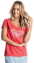 Roxy majica Bobby Touch Mex Hibiscus, rdeča