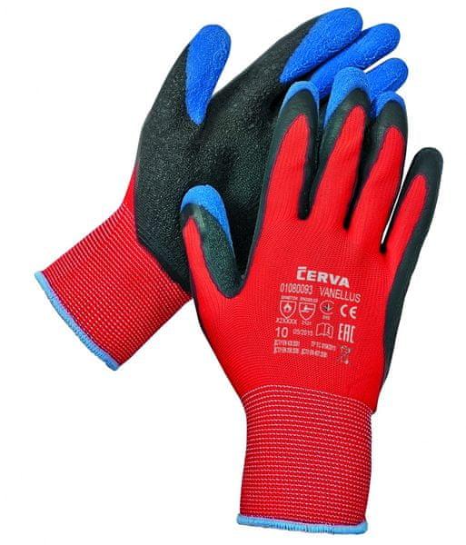 2e12aa6cb20 Červa VANELLUS rukavice máčené v latexu červená 10