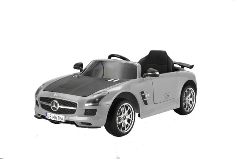 Hecht Dětské autíčko - Mercedes Benz SLS AMG šedá