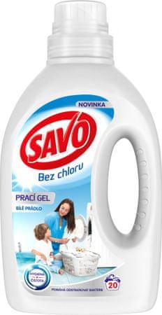 Savo Prací gel na bílé prádlo 1 l (20 praní)