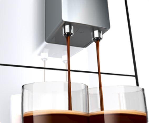 Automatický kávovar Melitta Solo Stříbrná 2 šálky najednou výškově nastavitelná tryska kompaktní rozměry
