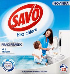 Savo Prací prášek na bílé prádlo 1,4 kg (20 praní)
