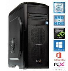PCX namizni računalnik Extian 16875 i7-7700/16GB/SSD256GB+HDD2TB/GTX1060/W10H