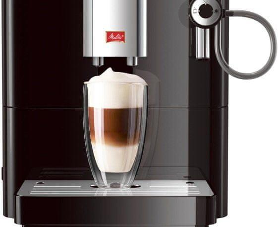 Melitta Passione Fekete automatikus kávéfőző 2 csésze egyszerre állítható magasságú fúvóka akár 13,5 cm-ig a legtöbb pohárhoz és bögréhez kompakt méretek