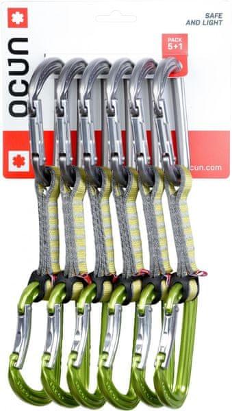 Ocun Falcon QD PAD 16 - pack 5+1 Green