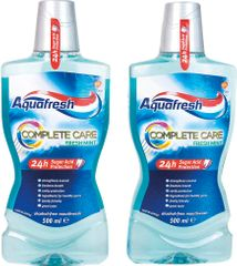 Aquafresh Complete Care ústní voda 2 x 500 ml
