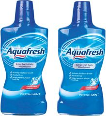 Aquafresh Fresh Mint ústna voda 2 x 500 ml