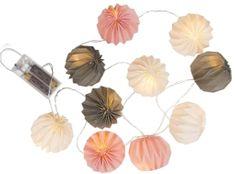 Toro Girlanda 10LED světel papírové kuličky