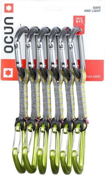 Ocun Hawk QD Combi PAD 16 - pack 5+1 Green