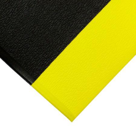 Černo-žlutá gumová protiskluzová protiúnavová průmyslová rohož - 1830 x 90 x 0,9 cm