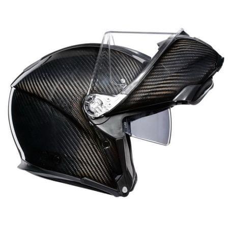 AGV vyklápěcí karbonová přilba SPORTMODULAR černý karbon vel.3XL (63-64cm)